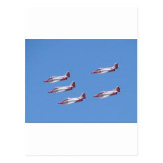 Top Gun in the air. Postcard