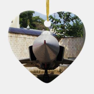 Top Gun in the suburbs. Ceramic Heart Decoration