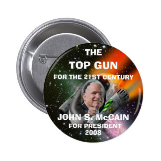 TOP GUN MCCAIN PINBACK BUTTON