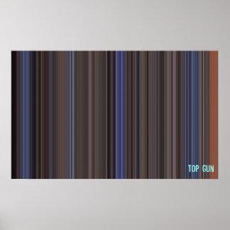 Top Gun - Movie barcode Poster