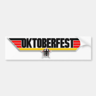 Top Gun Oktoberfest Logo German Beer Bumper Decal Bumper Sticker