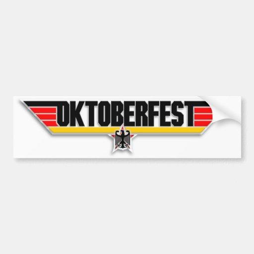 Top Gun Oktoberfest Logo German Beer Bumper Decal Bumper Stickers