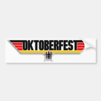 Top Gun Oktoberfest Logo German Beer Bumper Decal Car Bumper Sticker