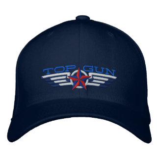 Top Gun Star Badge Pilot Wings Embroidered Baseball Hat