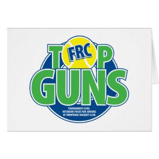 Top Guns Greetings Card
