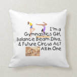 TOP Gymnastics All in One Throw Pillow