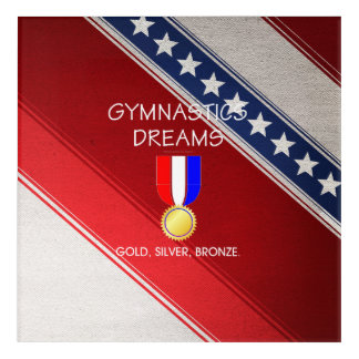 TOP Gymnastics Dreams Acrylic Wall Art