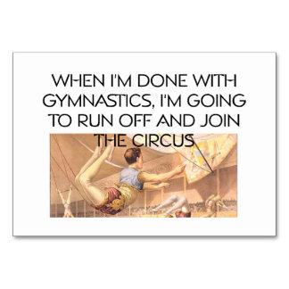 TOP Gymnastics Humor Table Card