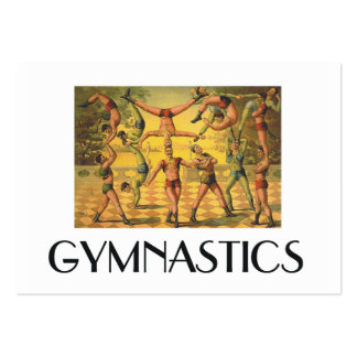TOP Gymnastics Old School Large Business Cards (Pack Of 100)