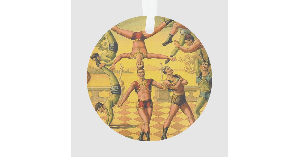 top gymnastics old school ornament zazzle