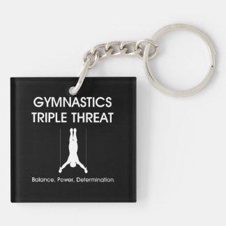 TOP Gymnastics Triple Keychain