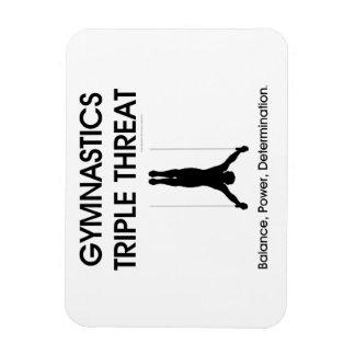 TOP Gymnastics Triple (M) Rectangular Photo Magnet