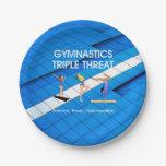 TOP Gymnastics Triple Threat 7 Inch Paper Plate