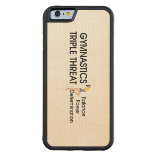 TOP Gymnastics Triple Threat Carved Maple iPhone 6 Bumper Case