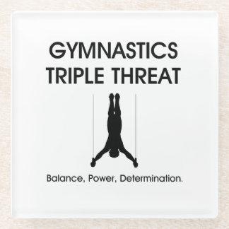 TOP Gymnastics Triple Threat Glass Coaster