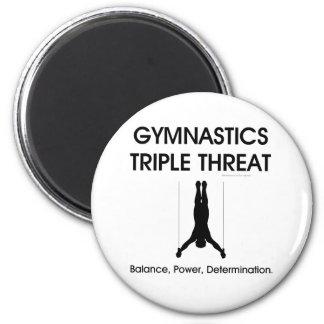TOP Gymnastics Triple Threat (Men's) 2 Inch Round Magnet