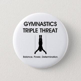 TOP Gymnastics Triple Threat (Men's) Pinback Button