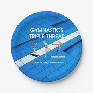 TOP Gymnastics Triple Threat Paper Plate