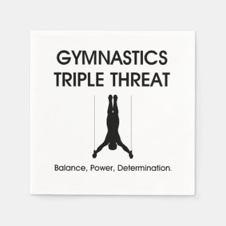 TOP Gymnastics Triple Threat Standard Cocktail Napkin