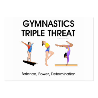 TOP Gymnastics Triple Threat (W) Large Business Cards (Pack Of 100)