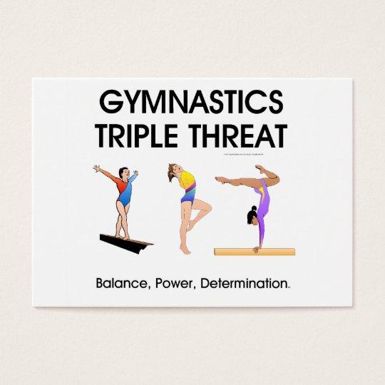 TOP Gymnastics Triple Threat (W) Business Card