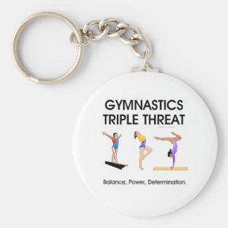 TOP Gymnastics Triple Threat (W) Keychain