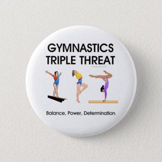 TOP Gymnastics Triple Threat (W) Pinback Button