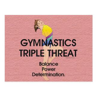 TOP Gymnastics Triple Threat (W) Postcard