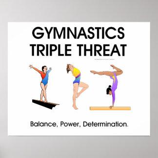 TOP Gymnastics Triple Threat (W) Poster