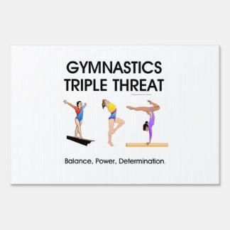 TOP Gymnastics Triple (W) Lawn Sign