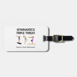 TOP Gymnastics Triple (W) Travel Bag Tags