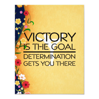 TOP Gymnastics Victory Slogan Card