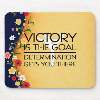TOP Gymnastics Victory Slogan Mouse Pad