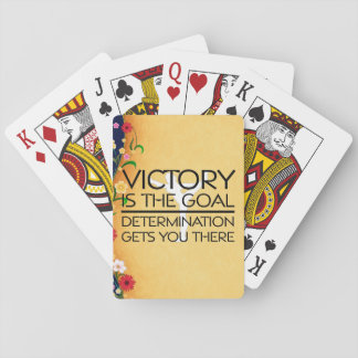 TOP Gymnastics Victory Slogan Playing Cards