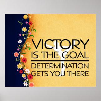 TOP Gymnastics Victory Slogan Poster