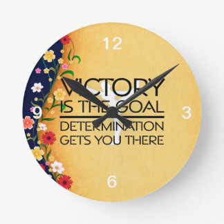 TOP Gymnastics Victory Slogan Round Clock