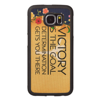 TOP Gymnastics Victory Slogan Wood Phone Case