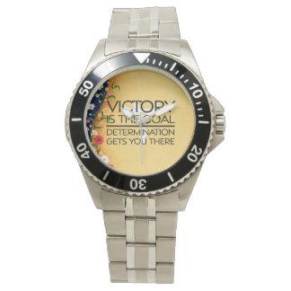 TOP Gymnastics Victory Slogan Wrist Watches