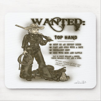 Top Hand Cowgirl Mousepad