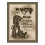 Top Hand Cowgirl Postcard