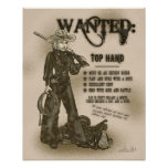Top Hand Cowgirl Poster