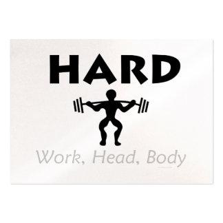 TOP Hard Work Head Body Business Card