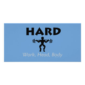 TOP Hard Work Head Body Card