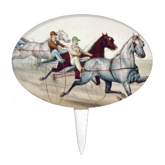 TOP Harness Racing Cake Topper
