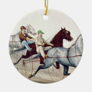 TOP Harness Racing Ceramic Ornament