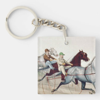 TOP Harness Racing Double-Sided Square Acrylic Keychain