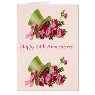 happy 24th anniversary gifts   t shirts art posters