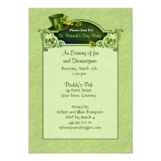Top Hat and Shamrocks Invitation - Customize