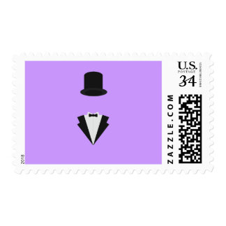top-hat and smoking postage stamp