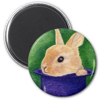 Top Hat Bunny Magnet